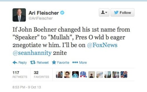 Ari Fleischer Tweets
